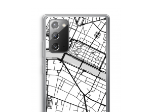 Zet een stadskaart op je  Galaxy Note 20 / Note 20 5G hoesje