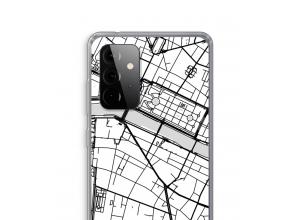 Zet een stadskaart op je  Galaxy A72 5G hoesje