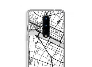 Zet een stadskaart op je  OnePlus 8 hoesje