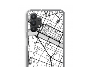 Zet een stadskaart op je  Galaxy A32 5G hoesje