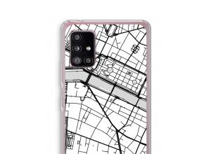 Zet een stadskaart op je  Samsung Galaxy A51 5G hoesje