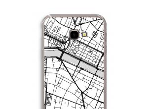 Zet een stadskaart op je  Galaxy J4 Plus hoesje