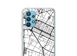 Zet een stadskaart op je  Samsung Galaxy A32 4G hoesje
