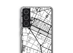 Zet een stadskaart op je  Samsung Galaxy S21 FE hoesje