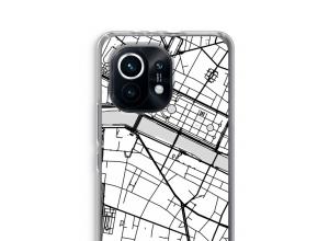 Zet een stadskaart op je  Xiaomi Mi 11 hoesje