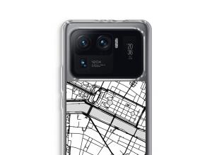 Zet een stadskaart op je  Xiaomi Mi 11 Ultra hoesje