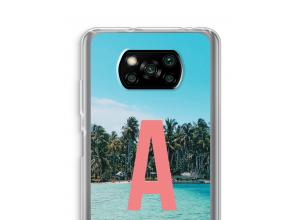 Maak zelf je Xiaomi Poco X3 NFC hoesje met je monogram