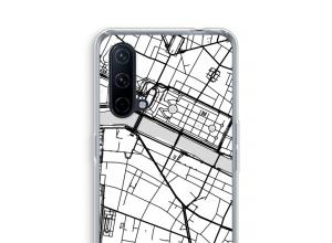 Zet een stadskaart op je  OnePlus Nord CE 5G hoesje