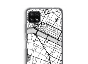 Zet een stadskaart op je  Samsung Galaxy A22 5G hoesje