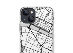 Zet een stadskaart op je  iPhone 13 mini hoesje