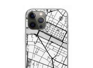 Zet een stadskaart op je  iPhone 13 Pro Max hoesje