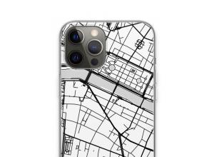 Zet een stadskaart op je  iPhone 13 Pro hoesje