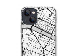 Zet een stadskaart op je  iPhone 13 hoesje
