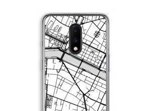 Zet een stadskaart op je  OnePlus 7 hoesje