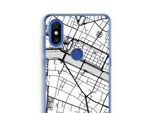 Zet een stadskaart op je  Xiaomi Mi Mix 3 hoesje