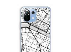 Zet een stadskaart op je  Xiaomi Mi 11 Lite hoesje