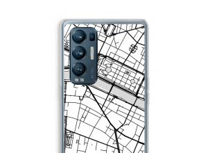 Zet een stadskaart op je  Oppo Find X3 Neo hoesje