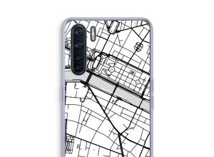 Zet een stadskaart op je  Oppo A91 hoesje