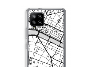 Zet een stadskaart op je  Samsung Galaxy A42 5G hoesje