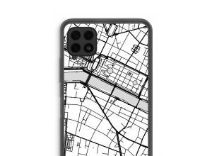 Zet een stadskaart op je  Samsung Galaxy A22 4G hoesje
