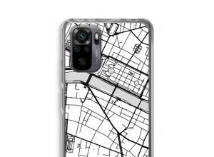 Zet een stadskaart op je  Xiaomi Redmi Note 10 Pro hoesje